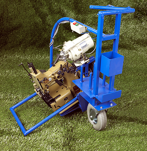 TSM machines are designed to sew sports, commercial, or residential turf with ease. The primary benefit of our units is their patented rear puller system. This extra pulling power ensures minimal part replacement & greatly reduced downtime. Here at Turf Sewing Machines, we guarantee precision equipment, immediate service, and affordable pricing.