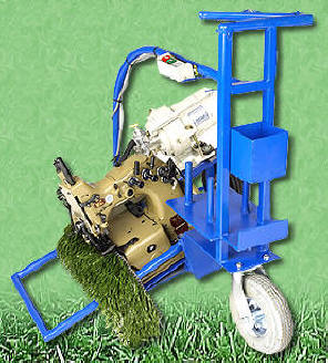 4 Threads, Double Needle Chainlock Stitch and Equipped with Ergonomic Turf Cart with finger tip control